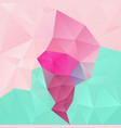 Abstract polygonal background pink blue green