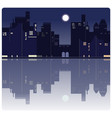 an american night city background vector image