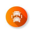 auto trade orange flat design long shadow glyph vector image