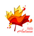 autumn sale template banner with maple leaf vector image vector image