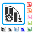 bitcoin falling acceleration chart framed icon vector image vector image
