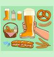 boot beer glass cheers vector image vector image