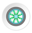 Car wheel icon cartoon style vector image vector image