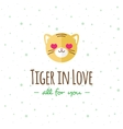 cartoon tiger head logo Flat logotype vector image vector image