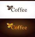 coffee company logo beans vector image