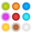 colorful starburst flash badge set graphics vector image vector image