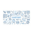content concept thin line horizontal vector image vector image