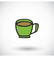 Cup icon with round shadow vector image vector image