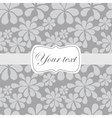 Cute vintage card invitation vector image vector image