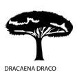 dracaena draco icon simple style vector image vector image