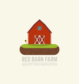 Farm red barn vector image
