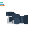 Flat design icon of premium photo camera vector image