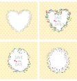 Flowers frame Heart Set vector image vector image