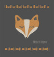 funny fox best friendretro style vector image vector image