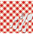 gingham menu card vector image vector image