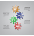 glass gears infographic vector image vector image