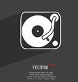 Gramophone vinyl icon symbol Flat modern web vector image