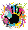 hand print and paint vector image vector image
