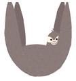 hanging sloth vector image