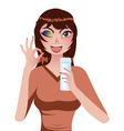 Happy Girl with Glass of Water vector image