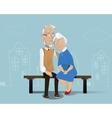 Happy senior couple Cartoon vector image vector image