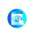 hide hidden content icon for web vector image vector image