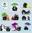 home insurance icons vs vector image