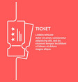 linear poster sale of tickets graphics vector image vector image