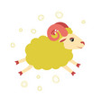 lovely little lamb jumped of an vector image vector image