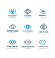 magic eye logos mysterious sight symbols vision vector image vector image