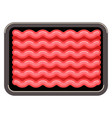 minced meat in plastic tray vector image