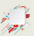 Modern aztec frame for material design vector image vector image