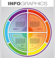 modern circle colorful infographics vector image vector image