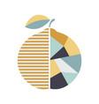 modern geometric orange fruit poster vector image vector image