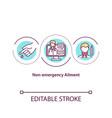non emergency ailment concept icon vector image vector image