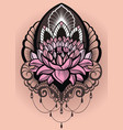 ornamental lotus flower vector image vector image