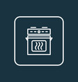 oven icon line symbol premium quality isolated vector image vector image