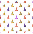 party caps seamless pattern bright multicolor vector image vector image