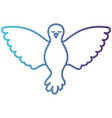 pigeon peace front view on gradient color vector image vector image