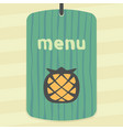 pineapple fruit icon modern infographic logo vector image vector image