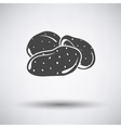 Potato icon on gray background vector image