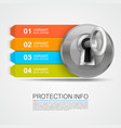 protection info arrow key infographic vector image