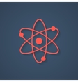 red atom icon with shadow vector image
