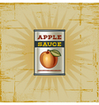 Retro Apple Sauce Can vector image vector image