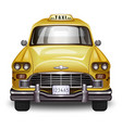 retro yellow taxi vintage yellow taxi car vector image