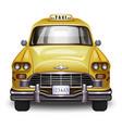 retro yellow taxi vintage yellow taxi car vector image