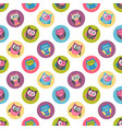 seamless pattern with colorful owls on white vector image