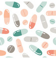 seamless pattern with pills capsules vitamins vector image