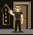 security man standing vector image vector image