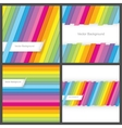 set colorful striped seamless backgrounds vector image